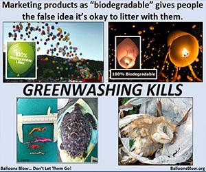 Ballons Blow: Greenwashing Kills