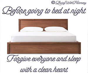 Living With Harmony: Sleep With A Clean Heart